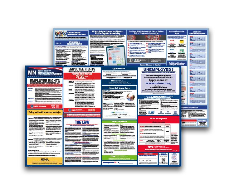 Minnesota  Labor  Law  and  OSHA  Safety  Posters  Bundle