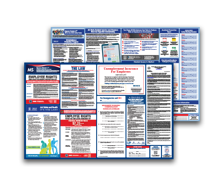 Mississippi  Labor  Law  and  OSHA  Safety  Posters  Bundle