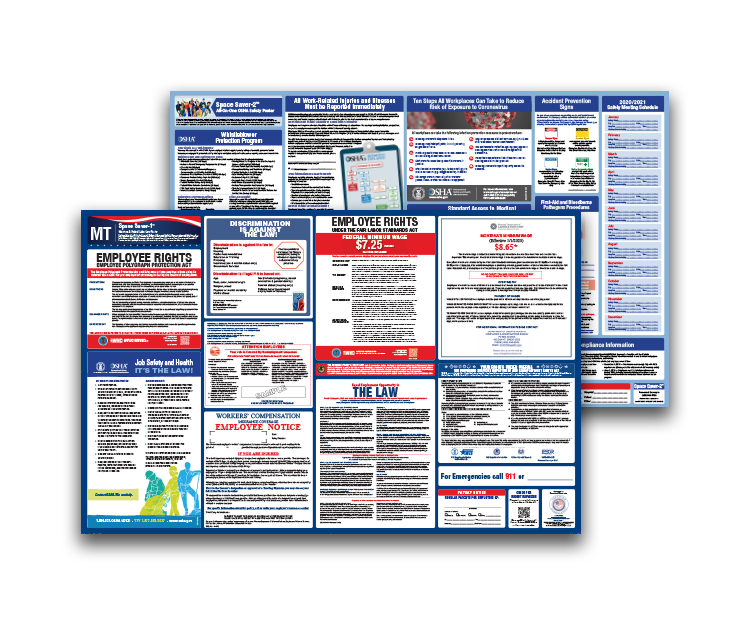 Montana  Labor  Law  and  OSHA  Safety  Posters  Bundle