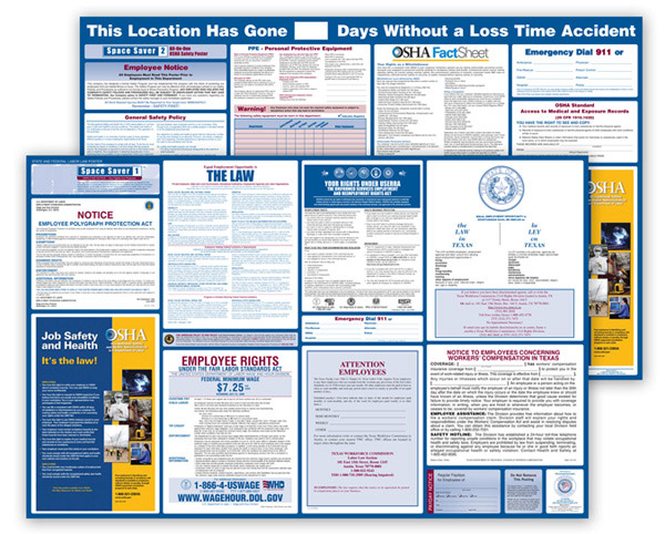 Nebraska  Labor  Law  and  OSHA  Safety  Posters  Bundle