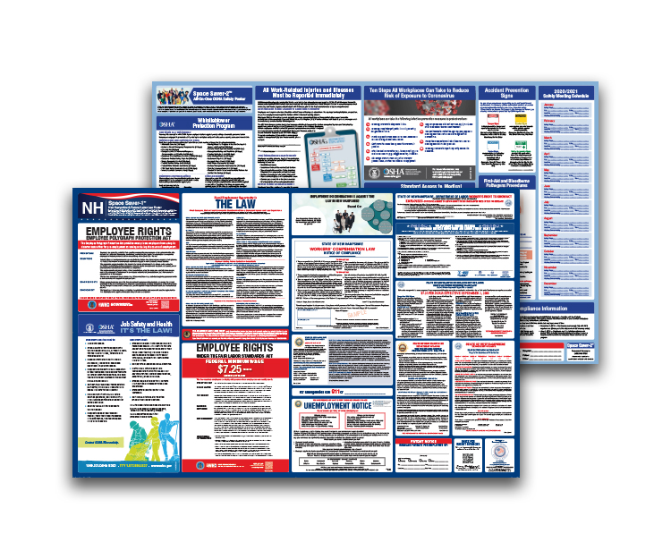 New  Hampshire  Labor  Law  and  OSHA  Safety  Posters  Bundle