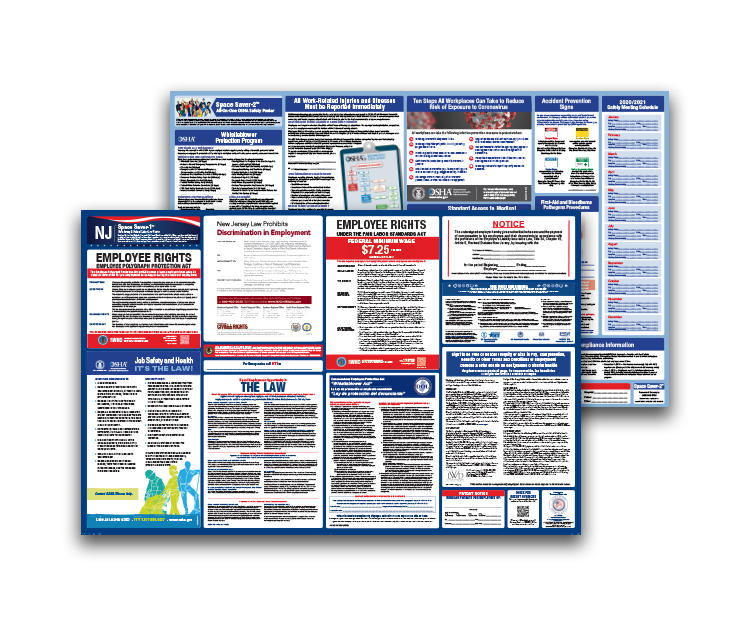 New  Jersey  Labor  Law  and  OSHA  Safety  Posters  Bundle