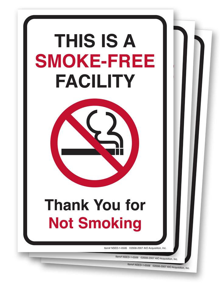 No  Smoking  Entrance  Decals