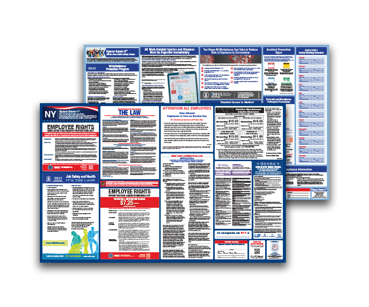 New  York  Labor  Law  and  OSHA  Safety  Posters  Bundle