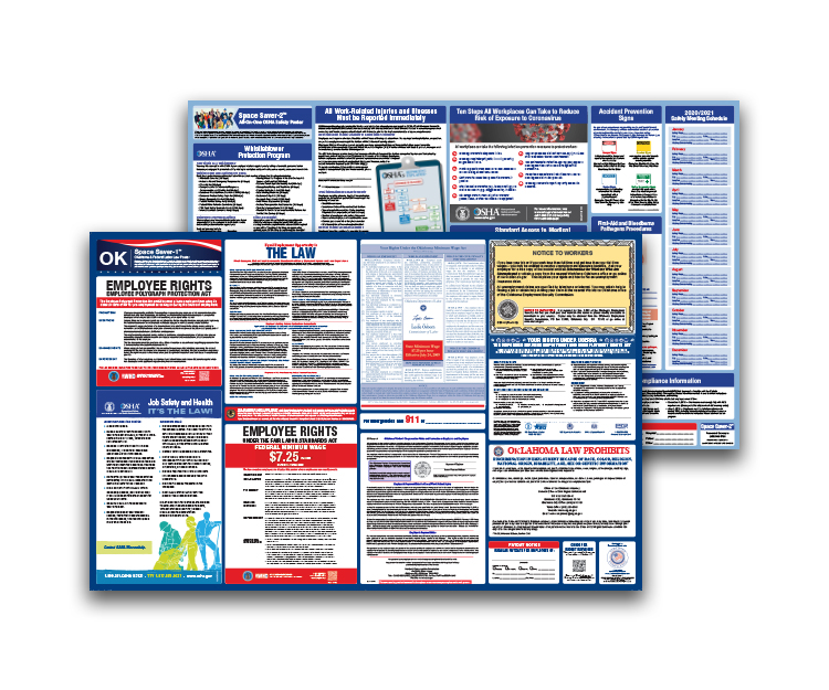 Oklahoma  Labor  Law  and  OSHA  Safety  Posters  Bundle