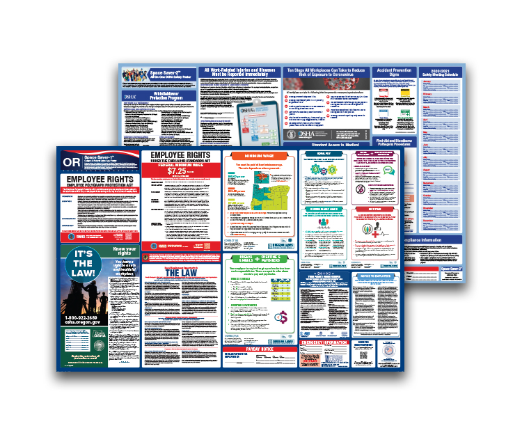 Oregon  Labor  Law  and  OSHA  Safety  Posters  Bundle