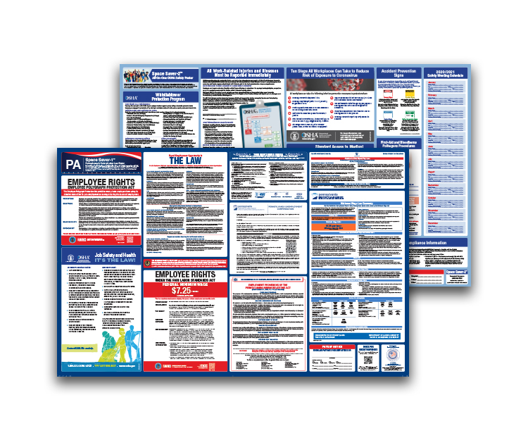 Pennsylvania  Labor  Law  and  OSHA  Safety  Posters  Bundle