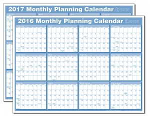 monthly planning calendar from personnel concepts