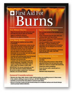 first-aid-for-burns-poster