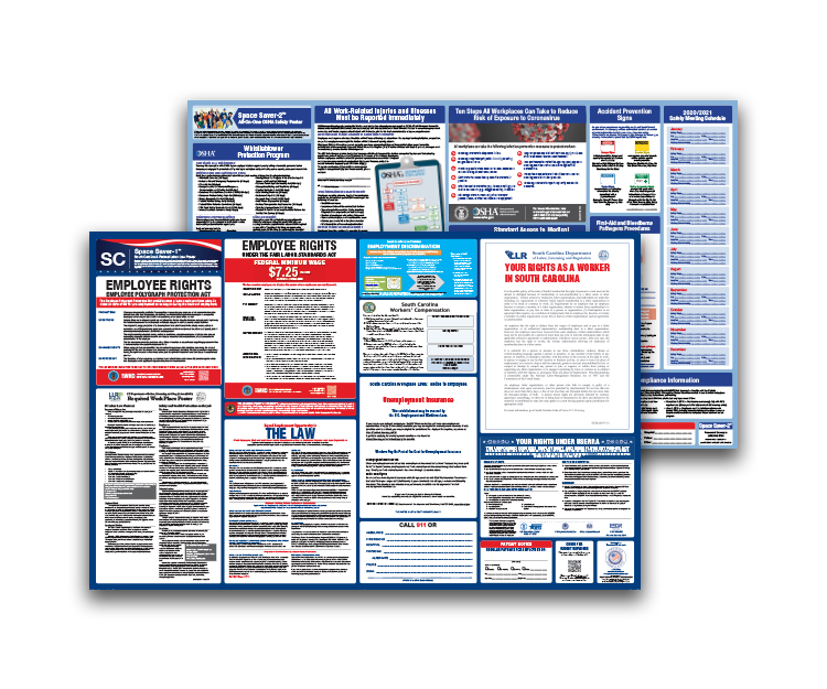 South  Carolina  Labor  Law  and  OSHA  Safety  Posters  Bundle