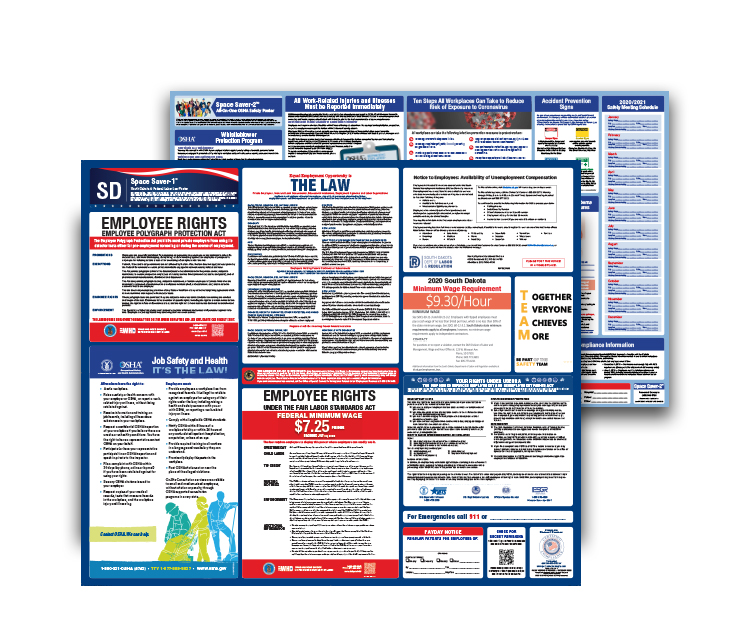 South  Dakota  Labor  Law  and  OSHA  Safety  Posters  Bundle