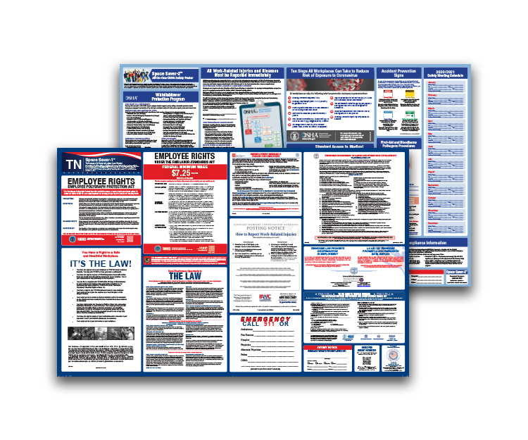 Tennessee  Labor  Law  and  OSHA  Safety  Posters  Bundle