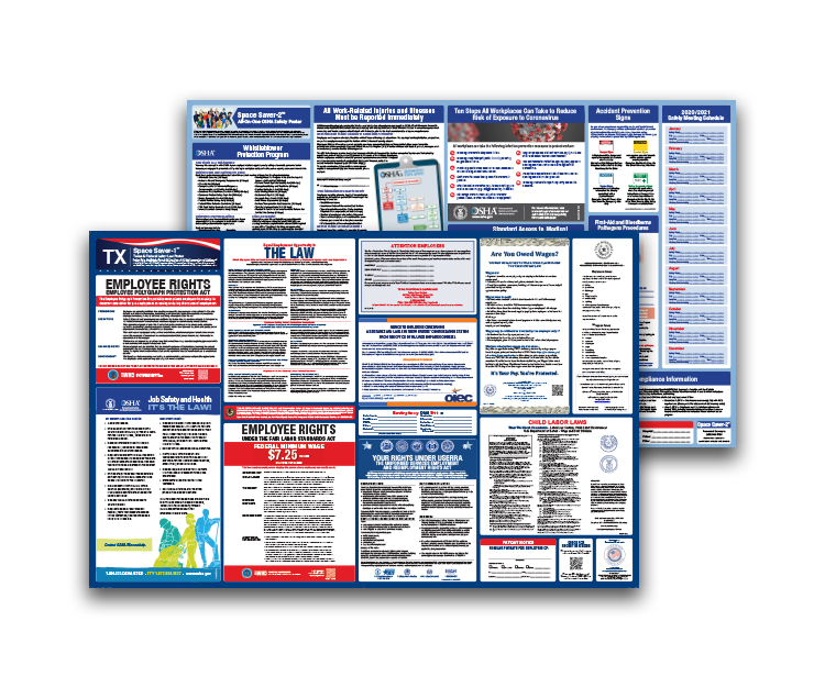 Texas  Labor  Law  and  OSHA  Safety  Posters  Bundle