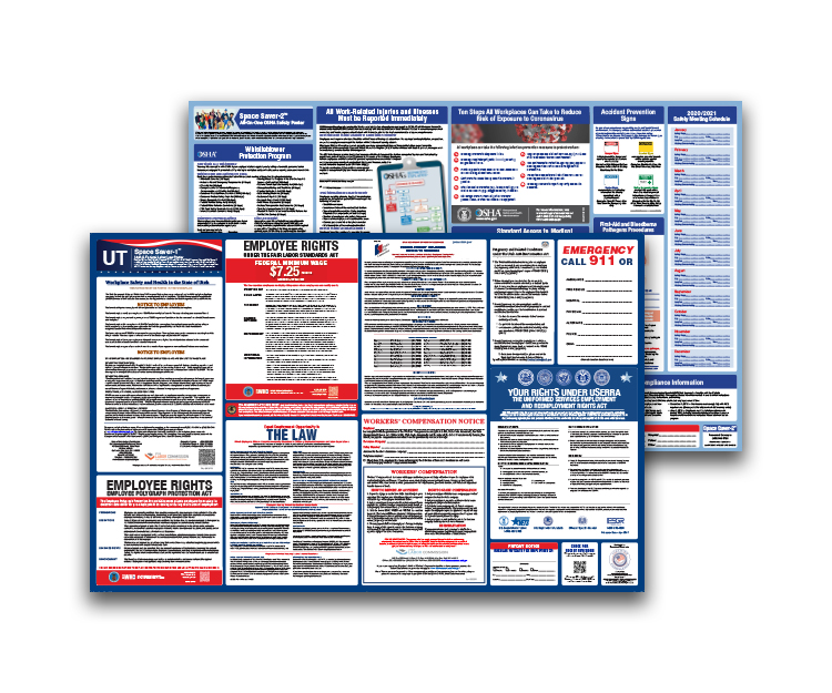 Utah  Labor  Law  and  OSHA  Safety  Posters  Bundle