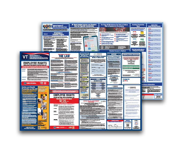 Vermont  Labor  Law  and  OSHA  Safety  Posters  Bundle