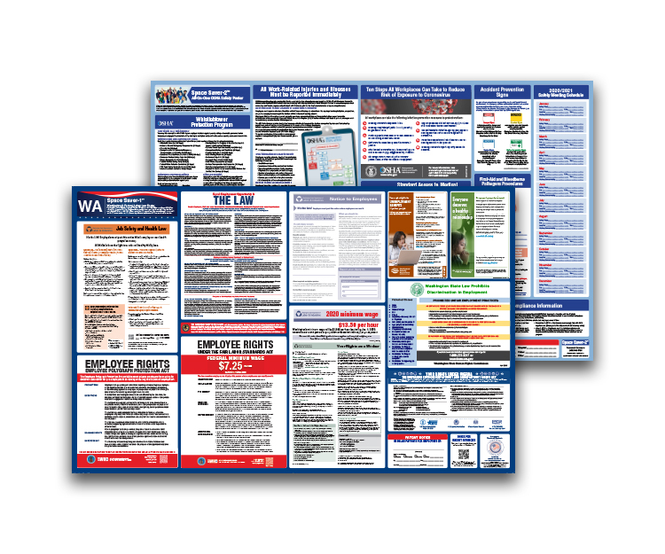 Washington  Labor  Law  and  OSHA  Safety  Posters  Bundle