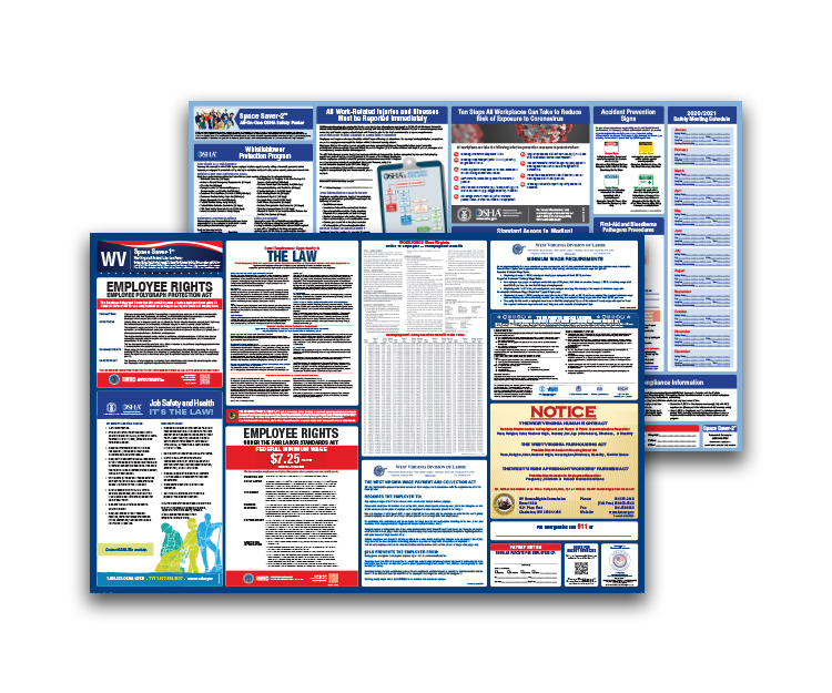West  Virginia  Labor  Law  and  OSHA  Safety  Posters  Bundle