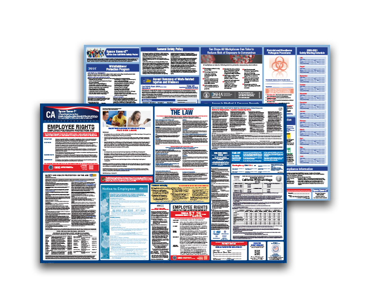 California  Labor  Law  and  OSHA  Safety  Posters  Bundle