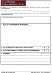 Safety  and  Health  Issues  Report    Form