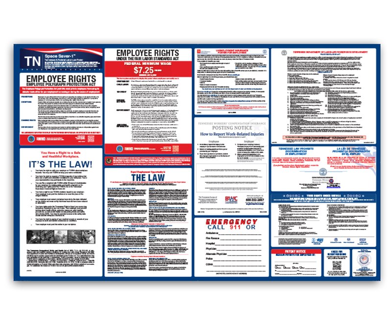 PersonnelConcepts | Tennessee Labor Law Poster