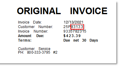 Your customer account number can be found on your invoice