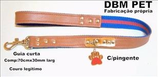 Guia de luxo em couro legítimo (dbm pet)
