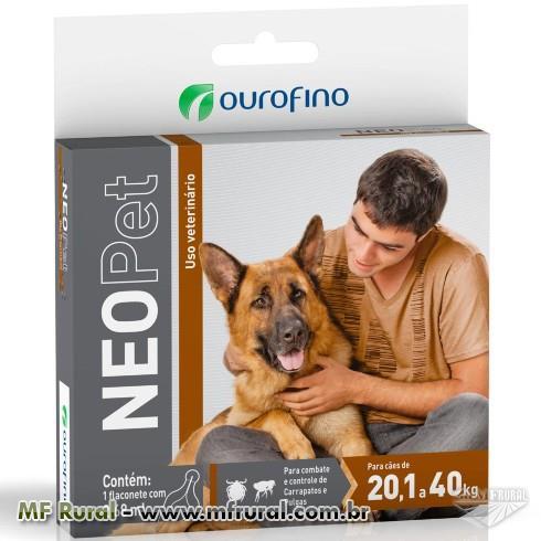 Anti Pulgas e Carrapatos Ouro Fino Neopet 2,68mL para Cães de 20,1 até 40 Kg Anti Pulgas e Carrapato
