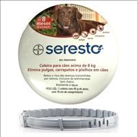 Coleira Anti Pulgas e Carrapatos Bayer Seresto para Cães Coleira Anti Pulgas e Carrapatos Bayer Sere