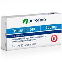 Antimicrobiano Ouro Fino Trissulfin Sid Cart com 10 Comprimidos Antimicrobiano Ouro Fino Trissulfin