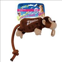 Brinquedo Afp Zinngers Macaco Flying de Pelúcia com Corda para Cães