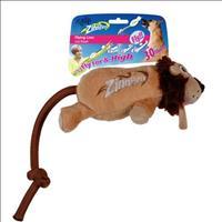 Brinquedo Afp Zinngers Leão Flying de Pelúcia com Corda para Cães