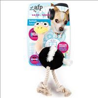 Brinquedo Afp Ultrasonic Avestruz de Pelúcia com Corda para Cães