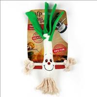 Brinquedo Afp Bbq Alho-poró de Pelúcia com Corda para Cães