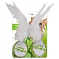 Brinquedo Afp Green Rush Bola com Pena com Catnip para Gatos