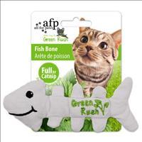 Brinquedo Afp Green Rush Osso de Peixe com Catnip para Gatos