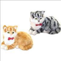 Brinquedo Chalesco Gatinho Pet de Pelúcia para Gatos - Cinza