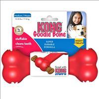 Brinquedo Interativo Kong Goodie Bone com Dispenser para Petisco -Vermelho Brinquedo Interativo Kong