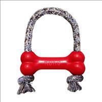 Brinquedo Interativo Kong Goodie Bone With Rope com Dispenser para Petisco - Vermelho Brinquedo Inte
