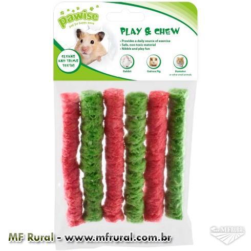 Brinquedo Pawise Arroz e Milho para Roedores Cores Variadas -  Tam. G