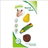 Brinquedo Pawise de Madeira e Bucha Vegetal para Roedores Cores Variadas - N°3