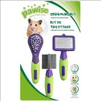 Kit Grooming Pawise para Roedores - Verde com Roxo