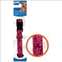 Coleira Pawise Rosa com Estampas de Flor para Cães Coleira Pawise Rosa com Estampas de Flor - Tam. M