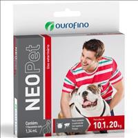 Anti Pulgas e Carrapatos Ouro Fino Neopet 1,34mL para Cães de 10,1 até 20 Kg Anti Pulgas e Carrapato