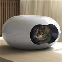 Cama Moderna Plast Doonut Tamanho Único para Gatos - Branca