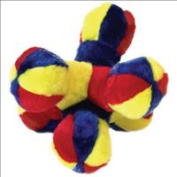 Brinquedo Chalesco Halteres Pelúcia 3D para Cães