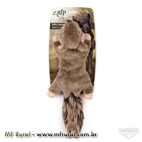 Brinquedo Afp Classic  Felicy Squirrel de Pelúcia para Cães