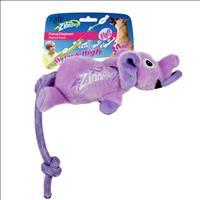 Brinquedo Afp Zinngers Elefante Voador de Pelúcia com Corda para Cães