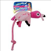 Brinquedo Afp Zinngers Flamingo Flying de Pelúcia com Corda para Cães