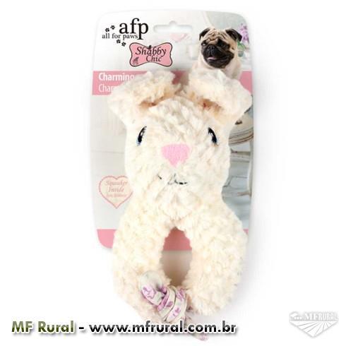 Brinquedo Afp Shabby Chic Coelho Charmoso para Cães