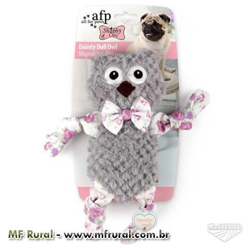 Brinquedo Afp Shabby Chic Coruja Minimals para Cães